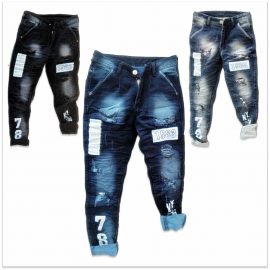 DVG - Funky Ripped Jeans For Men GTU-0017