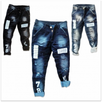 DVG - Funky Ripped Jeans For Men GTU-0017