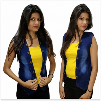 Denim Vistara denim jacket sleeveless For Women's