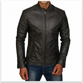 Royal Spider - Black Pure Leather Jacket For Men