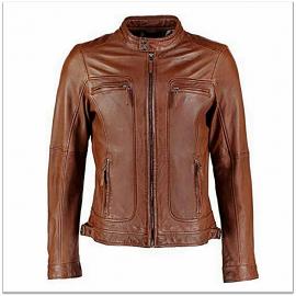 Royal Spider - Black Brown Pure Leather Jacket For Men