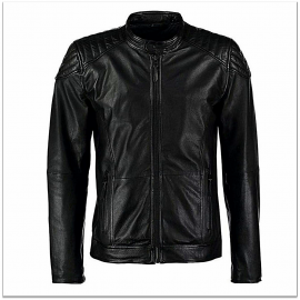 Royal Spider - Pure Leather Black Jacket For Men