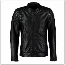 Royal Spider - Black Pure Leather Jacket For Men