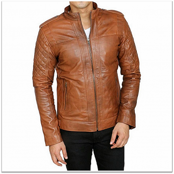 Royal Spider - Pure Leather D Brown Jacket For Men