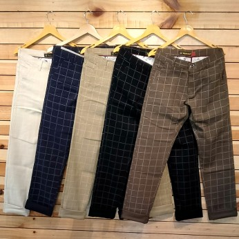 Cotton Cloth Checks Men's Trouser