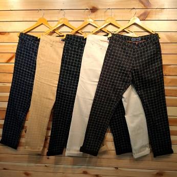 Men's Cotton Checks Trouser WJ-0009