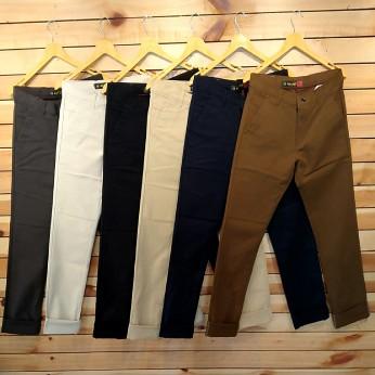 Mens Regular Fit 6 Colour Set Cotton Trouser WJ-0012