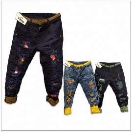 Wholesale - Funky Colour Damage Jeans GTU-0003