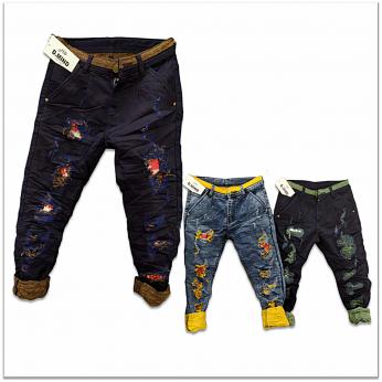 Wholesale - Funky Colour Damage Jeans GTU-0003