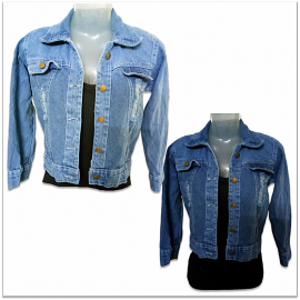Denim Vistara Women Ripped Denim Jacket DV-2004