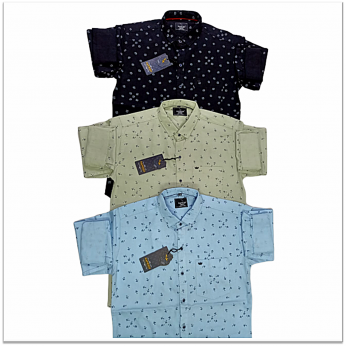 Wholesale - Kaprido Cotton Printed Mens Shirts K-0027