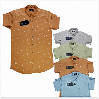 Kaprido Cotton Printed Mens Shirts Wholesale Rs.385.
