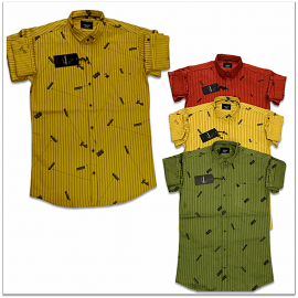 Wholesale - Kaprido Cotton Printed Mens Shirts