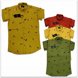 Wholesale - Kaprido Cotton Printed Mens Shirt