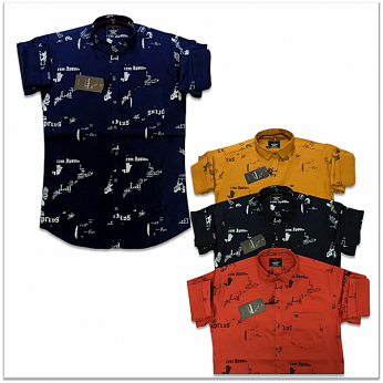 Wholesale - Kaprido Cotton Printed Mens Shirt
