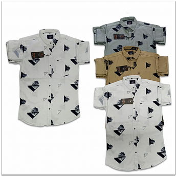 Wholesale - Kaprido Mens Cotton Printed Shirt K-0016