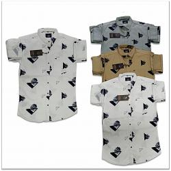 Wholesale - Kaprido Mens Cotton Printed Shirt K-0016