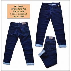 Mens Blue Regular Denim jeans