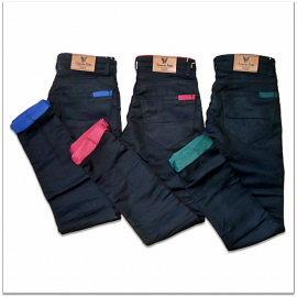 Men 3 Black Mill Died Jeans
