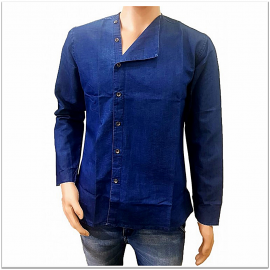 Denim Vistara - Denim Chinese kurta