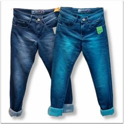 Mens Wrinkle Jeans 2 Colours Set.