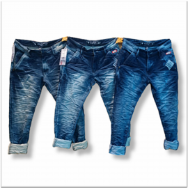 Wholesale Men's Denim Jeans 5 Dusty Colours Set.
