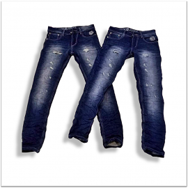 Men Regular Fit Stretchable Damage Jeans Wholesale Rs. 599.