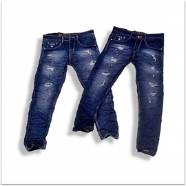 Wholesale Men Regular Fit Stretchable Damage Jeans