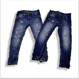Wholesale Men Stretchable Damage Jeans