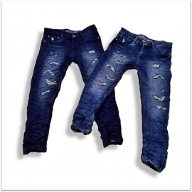 Wholesale Men Regular Fit Stretchable Damage Jeans DL-1004