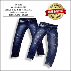 Stylish Damage Jeans Factory Price