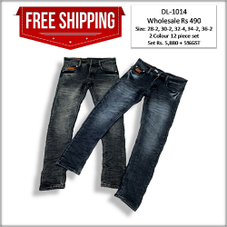 Men's Relaxed Fit Denim Jeans Factory Rate DL-1014