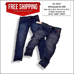 Relaxed Fit Men Denim Jeans Factory Rate 490.