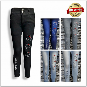 Women High Waist Stretchable Slim Fit Jeans