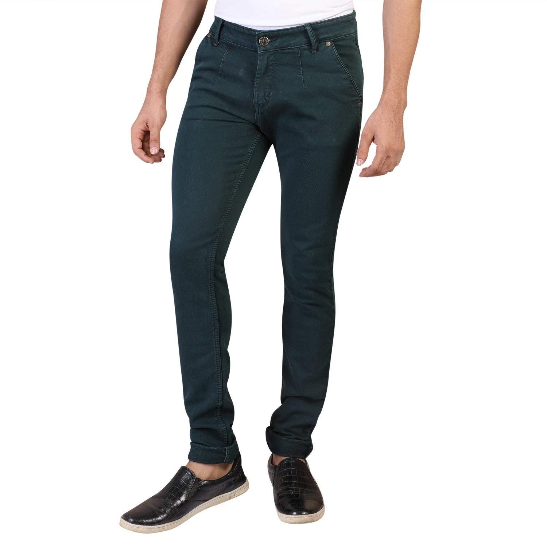 b7da23e7d1 Denim Vistara Men's Green Slim Fit Nero Jeans - jeanswholesaler