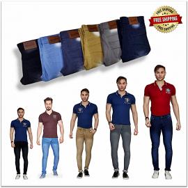 Men's Jeans 6 Colours Set Wholesale Rate 325.