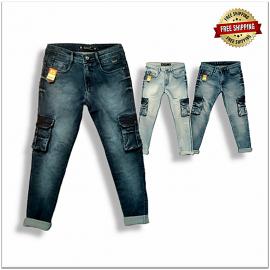 Men Comfort Fit 7-pocket Jeans wholesale Price 560.