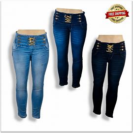 Women Stylish High Waist Jeans Wholesale Piece 440