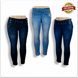 Stylish High Waist Women Jeans Wholesale Piece 460