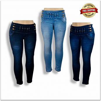 Stylish High Waist Women Jeans Wholesale Piece 460
