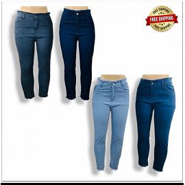 Wholesale High Waist Women Stylish Jeans