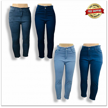 Wholesale High Waist Women Stylish Jeans