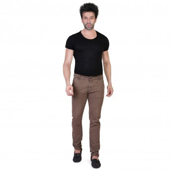 Sale Denim Vistara Men's Brown Slim Fit Jeans