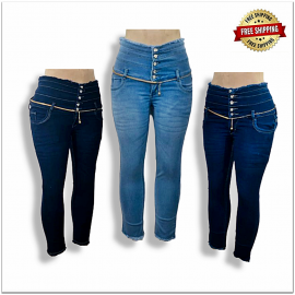 Women Designer High Waisted Jeans