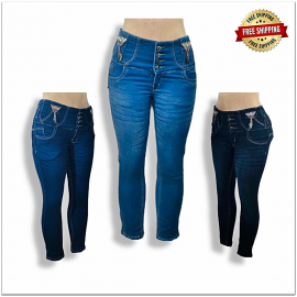 Women High Waisted Jeans
