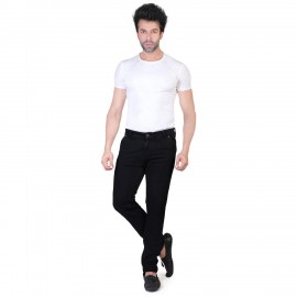 Denim Vistara Men's Black Slim Fit Jeans for Sale