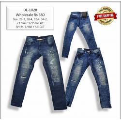 Men Denim Repeat Jeans