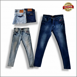 Men Straight Fit Denim Jeans