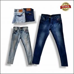 Men Straight Fit Denim Jeans