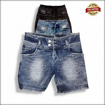 Women Skinny Torn Denim Shorts